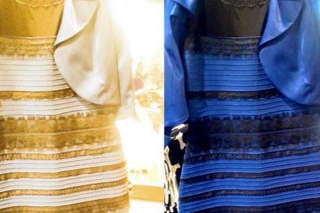 blue or gold dress